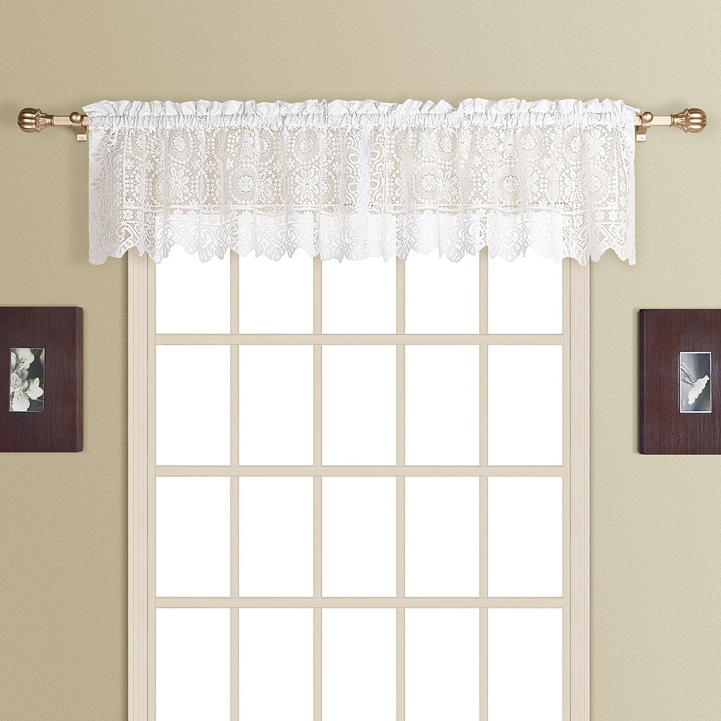 United Curtain Co. Rochelle Lace Window Valance - 56'' x 16''