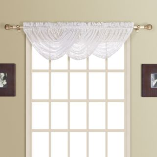 United Curtain Co. Rochelle Lace Waterfall Valance - 44'' x 38''