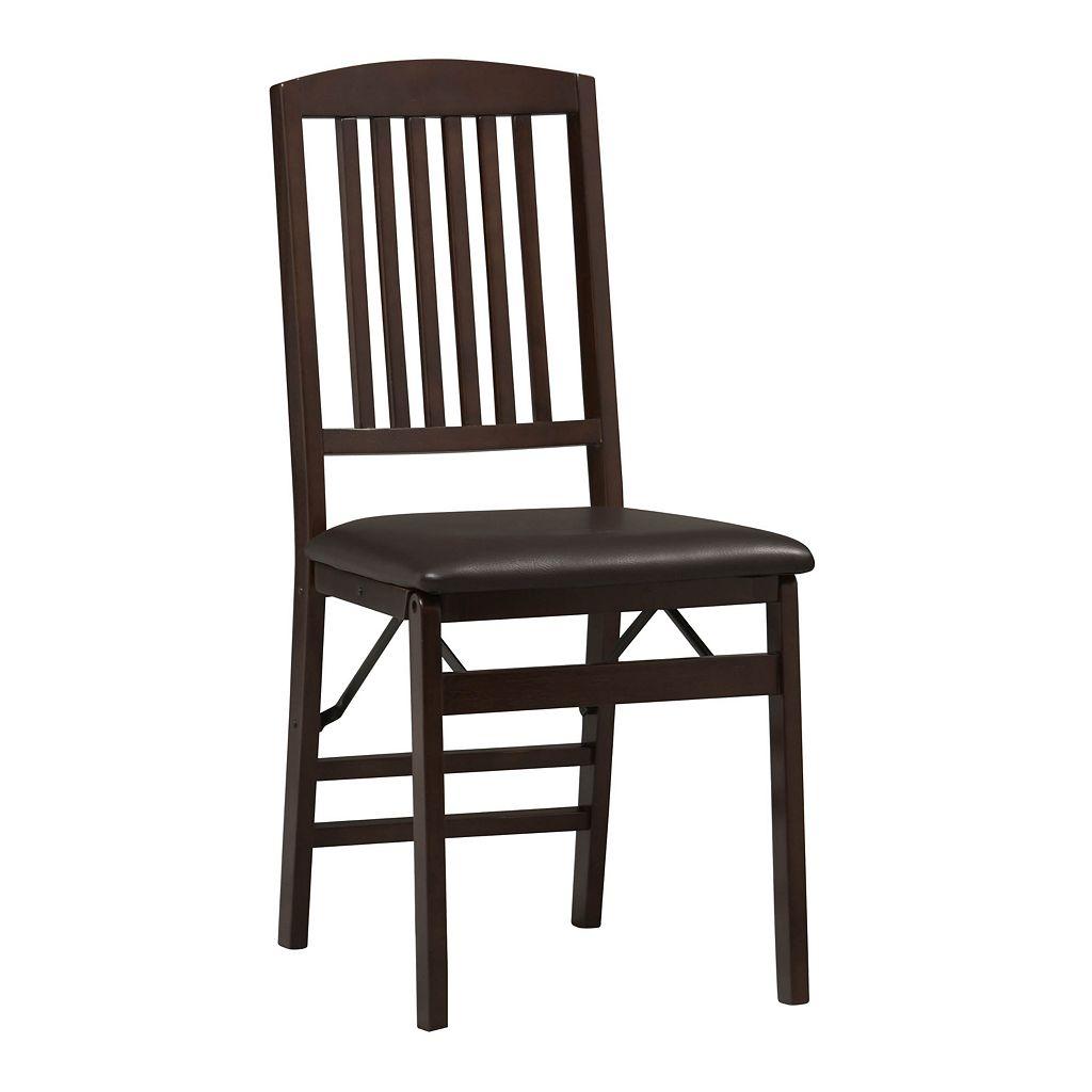 Linon Triena Mission-Back Folding Chair