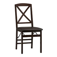 Linon Triena X-Back Folding Chair