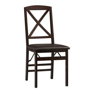 Linon Triena X-Back Folding Chair