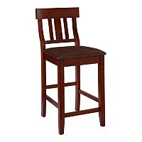 Linon Torino Slat-Back Counter Stool