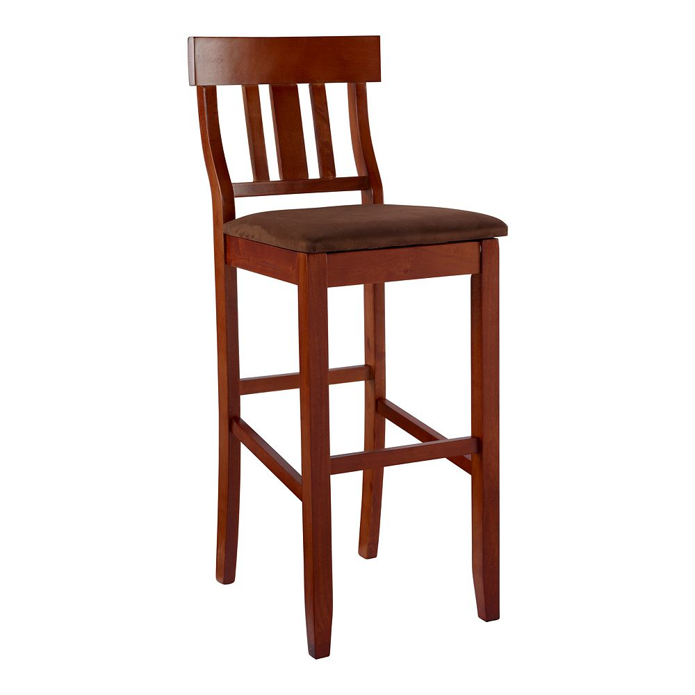 Linon Torino Slat-Back Bar Stool