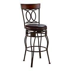 Linon O & X Bar Stool