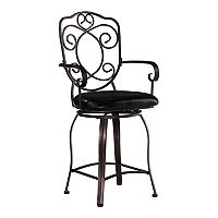 Linon Crested-Back Counter Stool