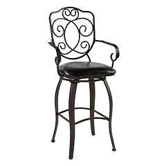 Linon Crested-Back Bar Stool