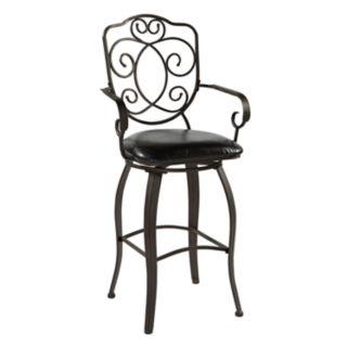 Linon Crested-Back Bar Stool