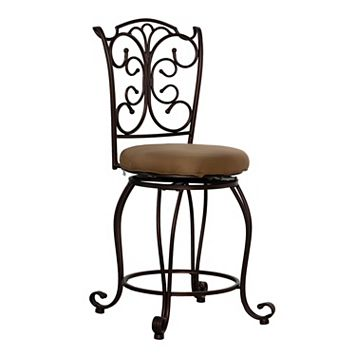 Linon Gathered-Back Counter Stool