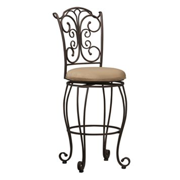 Linon Gathered-Back Bar Stool