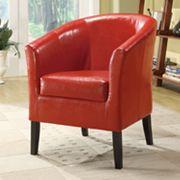 Linon Simon Red Club Chair