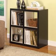 Linon Hollow-Core 4-Cube Bookcase