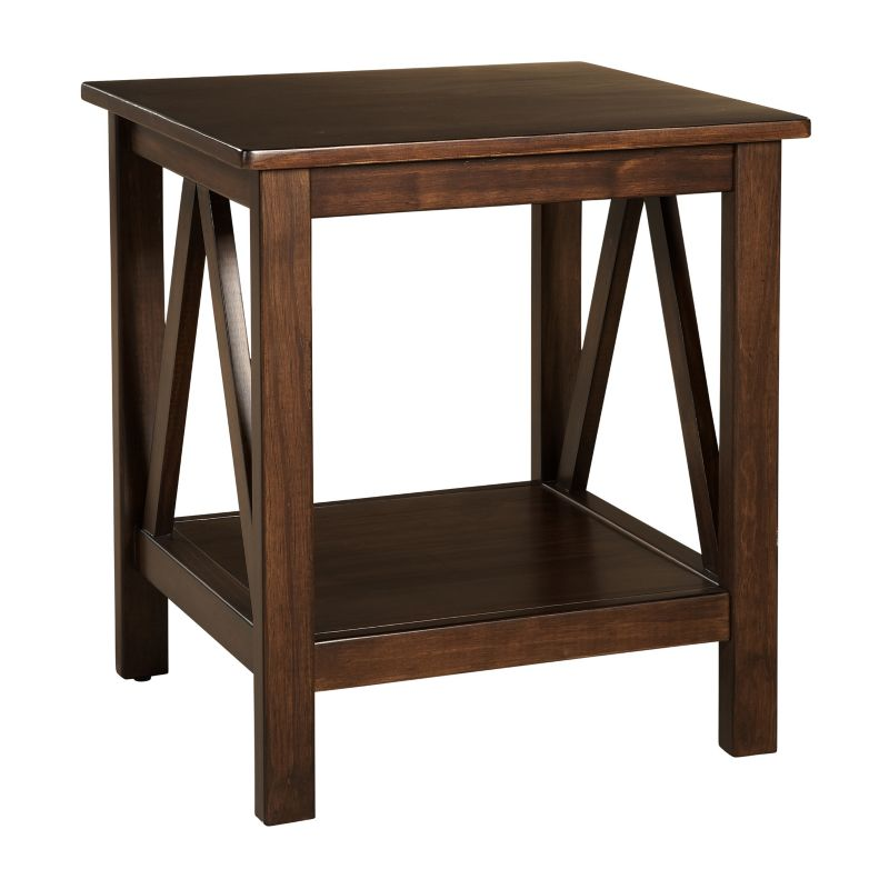 Linon Titian End Table, Brown