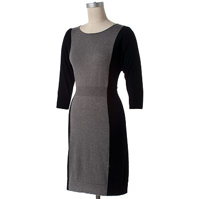 Apt. 9 Colorblock Dolman Sweaterdress - Petite