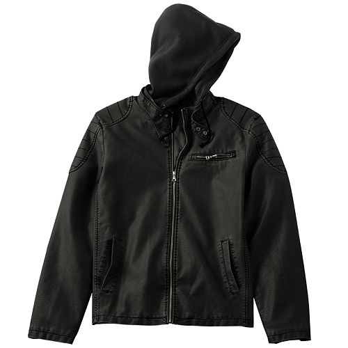 ab3b04cbed4 Helix™ Faux-Leather Hooded Jacket - Men