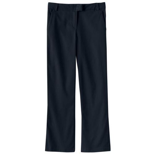 Chaps Stretch Twill Bootcut School Uniform Pants - Girls 7-16