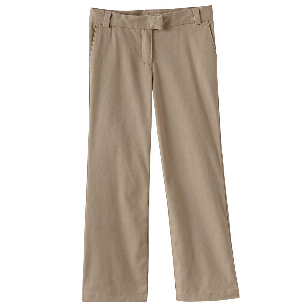 Girls 4-6x Chaps Stretch Twill Bootcut School Uniform Pants