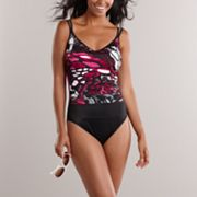 Croft & Barrow� Fit For You Tummy Slimmer Splatter One-Piece Swimsuit