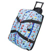 Wildkin Olive Kids Trains, Planes & Trucks Good Times Rolling Duffel Bag - Boys