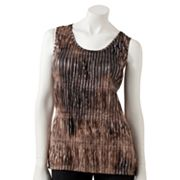 Jennifer Lopez Foil Accordion-Pleat Tank