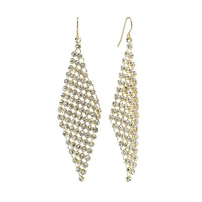 Apt. 9 Gold Tone Simulated Crystal Kite Earrings