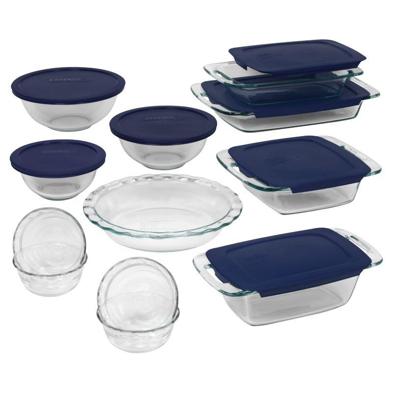 Pyrex Easy Grab 19-pc. Bakeware Set, Multicolor