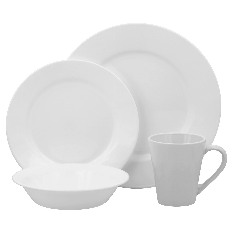 sc 1 st  Kohl\u0027s & Corelle Lifestyles Shimmering White Round 16-pc. Dinnerware Set