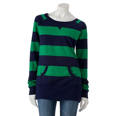 SO Striped Tunic Sweatshirt - Juniors