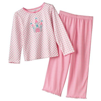 Carter's Floral and Stripe Pajama Set - Girls