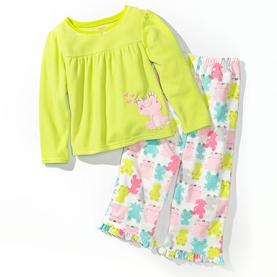 Carter's Frog Microfleece Pajama Set - Girls