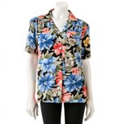 Cathy Daniels Floral Camp Shirt