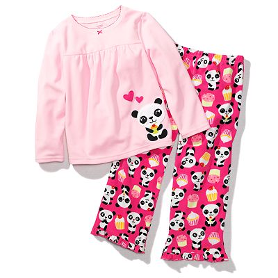Carter's Panda and Cupcake Microfleece Pajama Set - Girls
