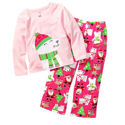 Carter's Holiday Microfleece Pajama Set - Girls