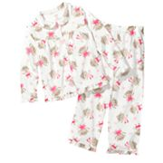 Carter's Ballerina Monkey Microfleece Pajama Set - Girls