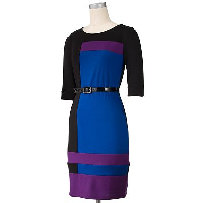 Chaya Colorblock Ponte Sheath Dress