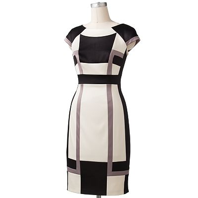 Chaya Colorblock Sheath Dress