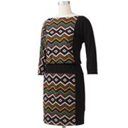 Suite 7 Zigzag Blouson Dress