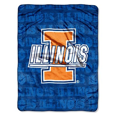 Illinois Fighting Illini Micro Super Plush Throw Blanket by Northwest