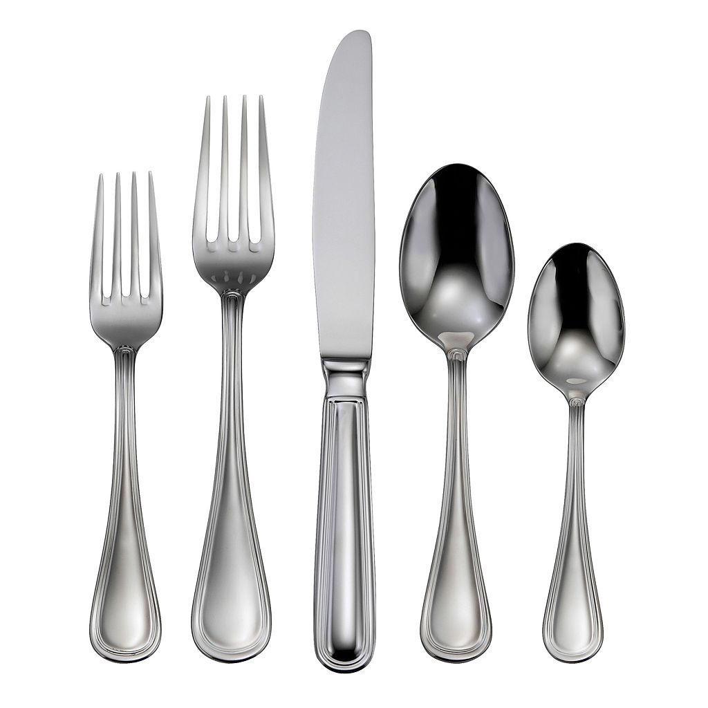 Oneida Omnia 18/10 Stainless Steel 62-pc. Flatware Set