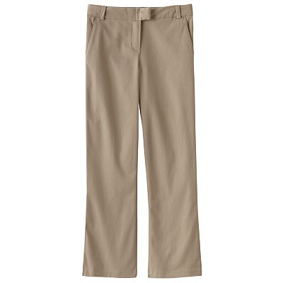 Chaps Stretch Twill Bootcut School Uniform Pants - Girls Plus