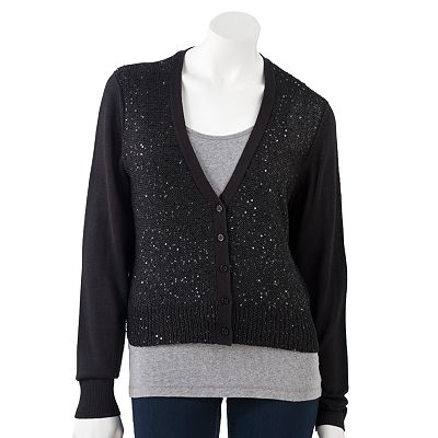 Apt. 9 Sequin Cardigan