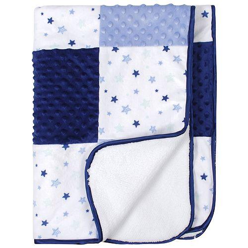 Just Born® Patchwork Star Velboa Blanket