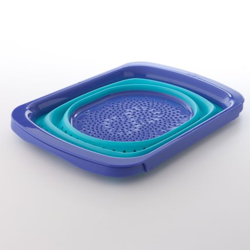 Squish Over-the-Sink Collapsible Colander