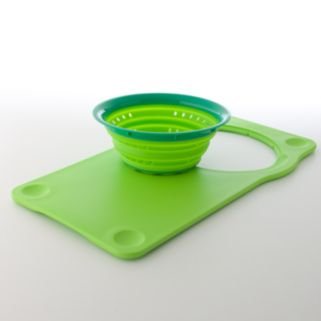 Squish Over-the-Sink Cutting Board and Collapsible Colander