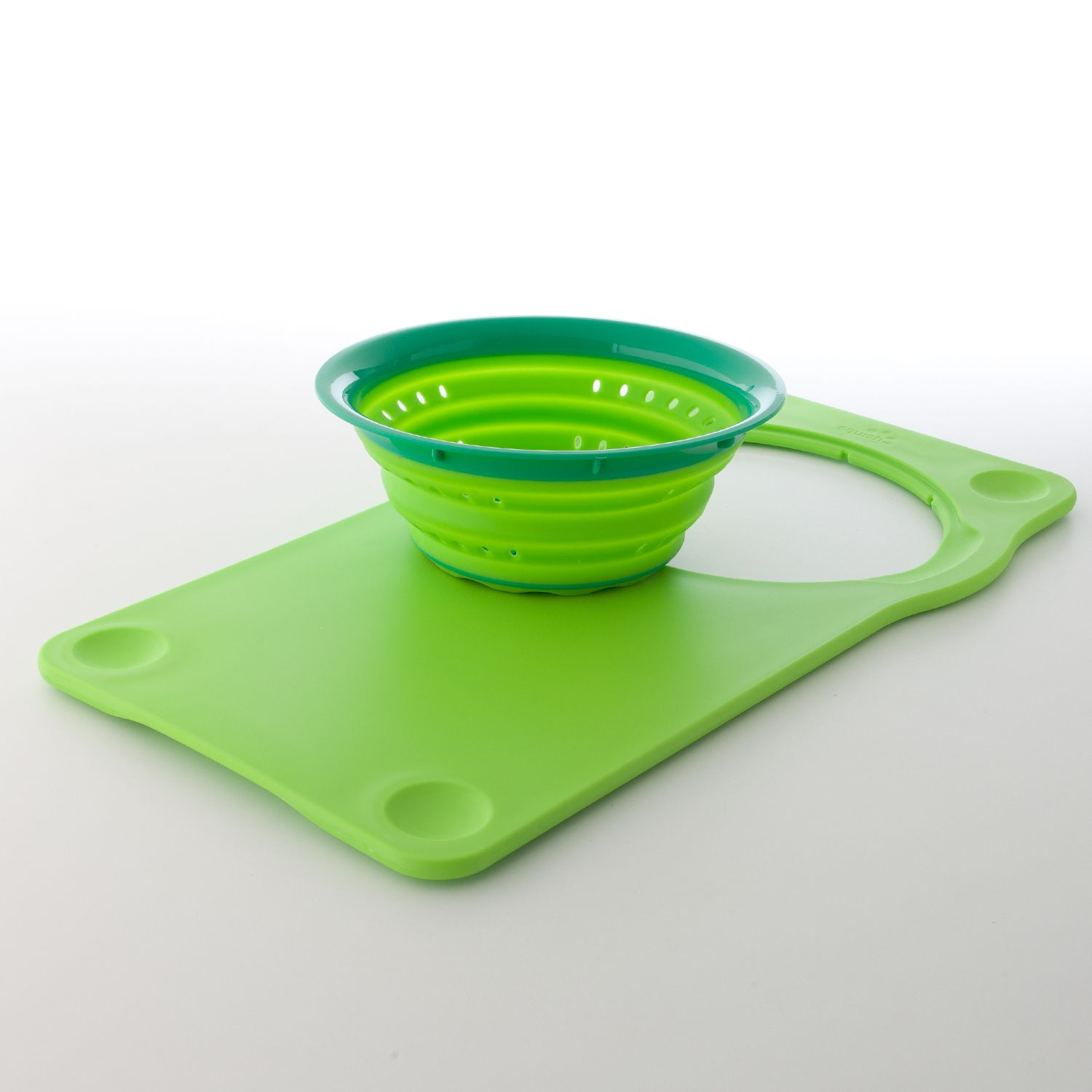 Charming Squish Over The Sink Cutting Board U0026 Collapsible Colander