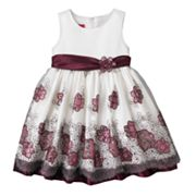 Princess Faith Floral Embroidered Dress - Girls 4-6x