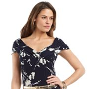 Chaps Floral Empire Top - Petite