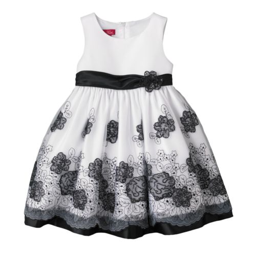 Princess Faith Floral Embroidered Dress - Baby