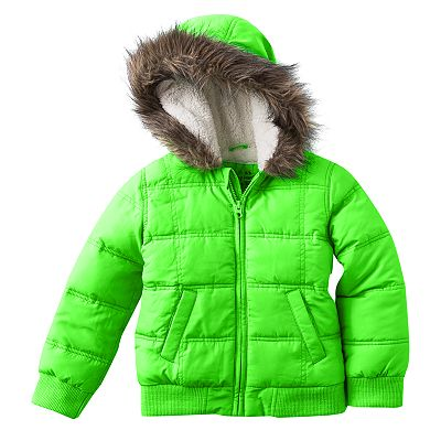 Jumping Beans Neon Puffer Jacket - Girls 4-6x