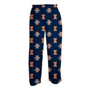 College Concepts Illinois Fighting Illini Fleece Scoreboard Pants - Men
