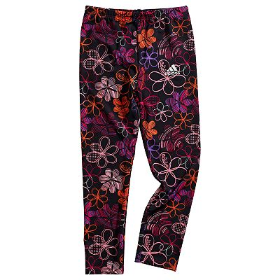 adidas J.V. Tech Floral Tights - Girls 4-6x